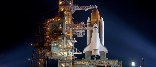スペースシャトル打ち上げの写真